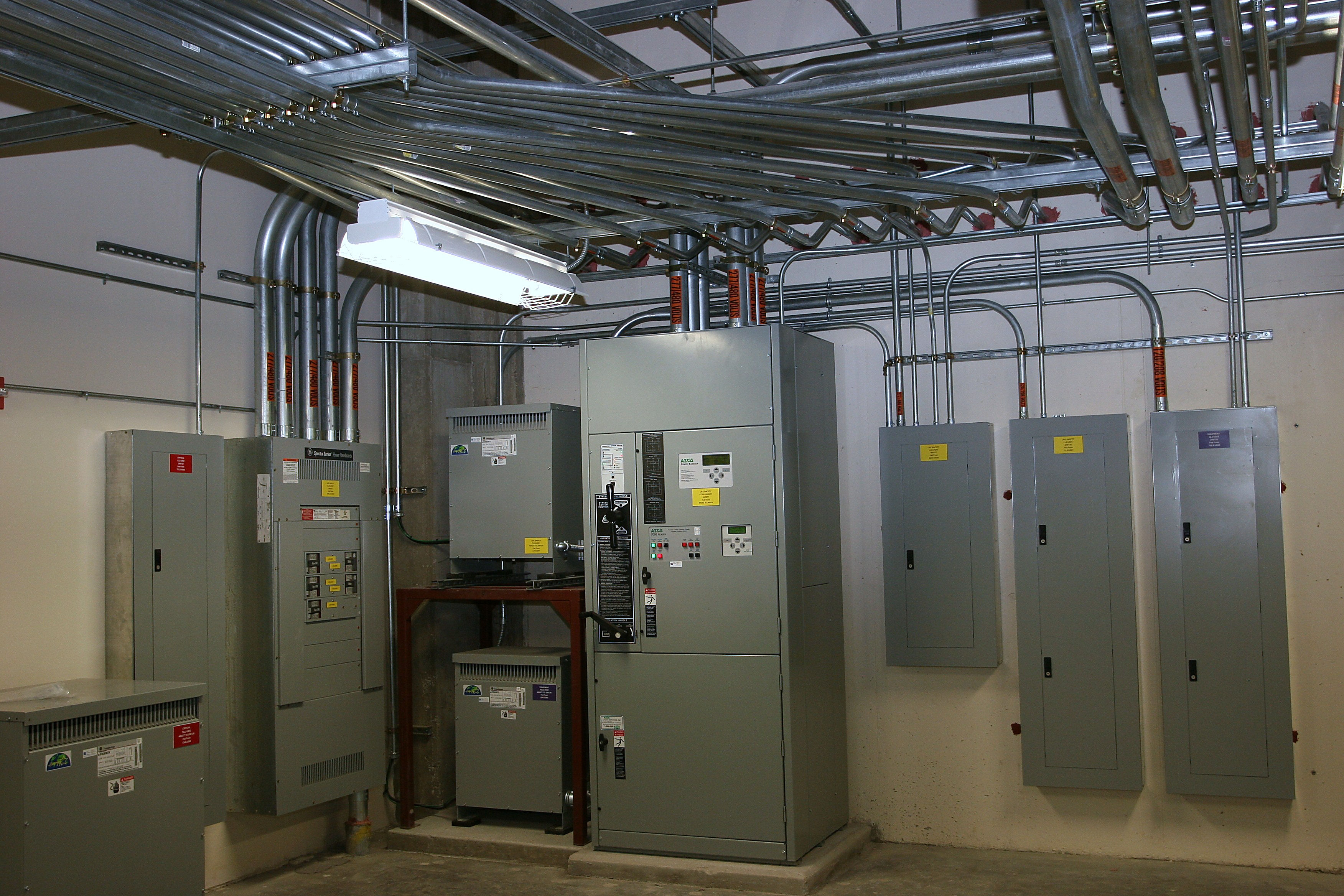 Boiler room HVAC of Dell Childrens Medical Center.