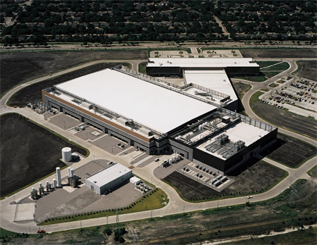 Aerial view of Texas Instruments Campus in Richardson, Texas.
