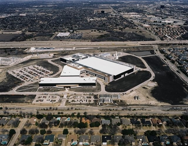 Aerial view of Texas Instruments.